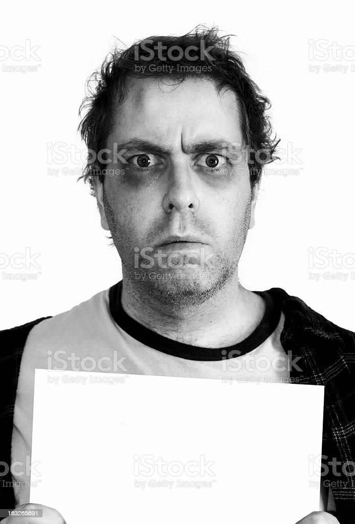 Mugshot - Black & White royalty-free stock photo