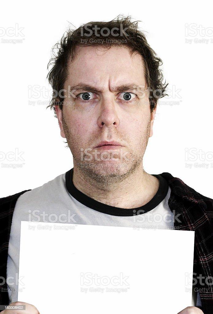 Mugshot - Blank White Card royalty-free stock photo