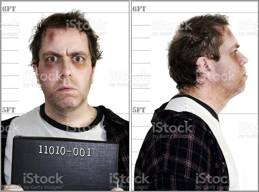 Mugshot - Computer Crime royalty-free stock photo