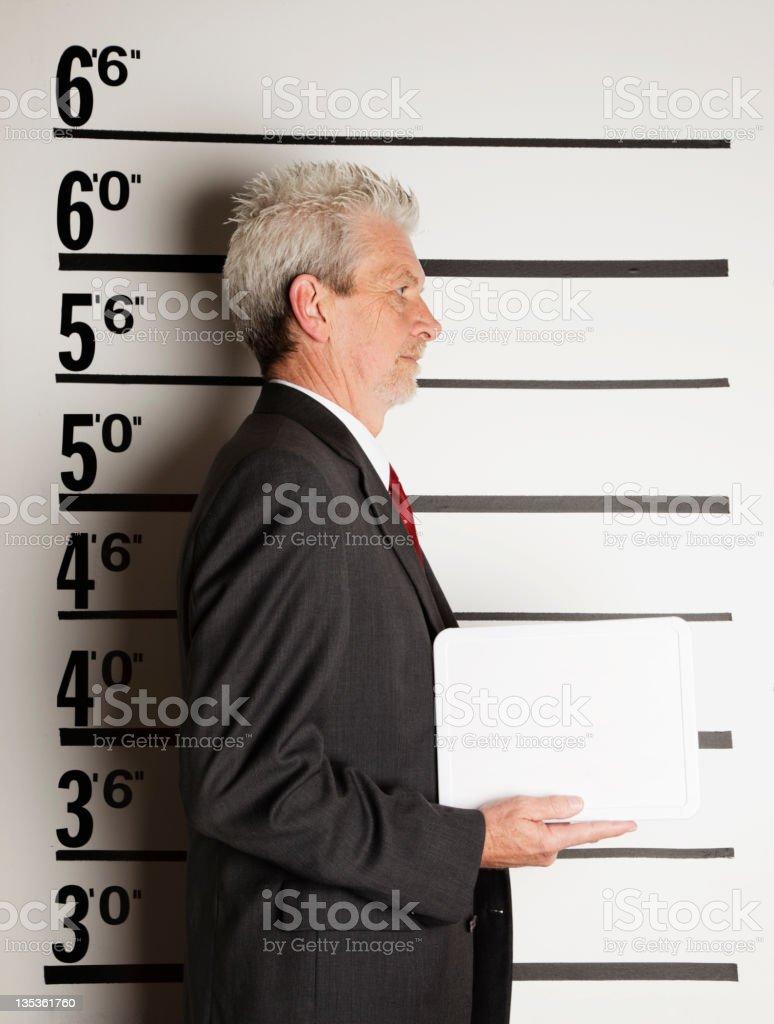 Mugshot of a Businessman royalty-free stock photo