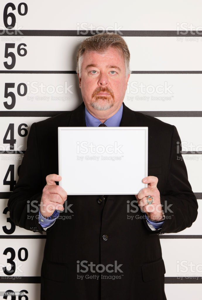 Mugshot of a Businessman stock photo
