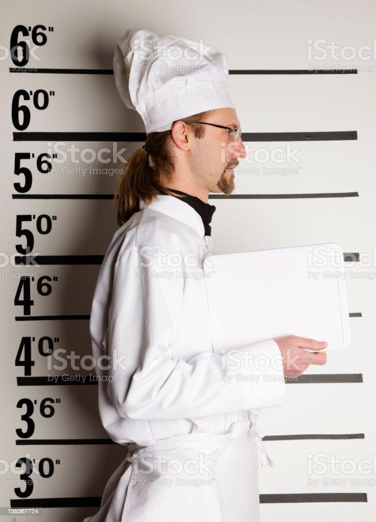 Mugshot of a Chef royalty-free stock photo