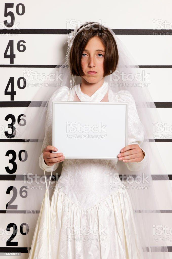 Mugshot of a Child Bride royalty-free stock photo