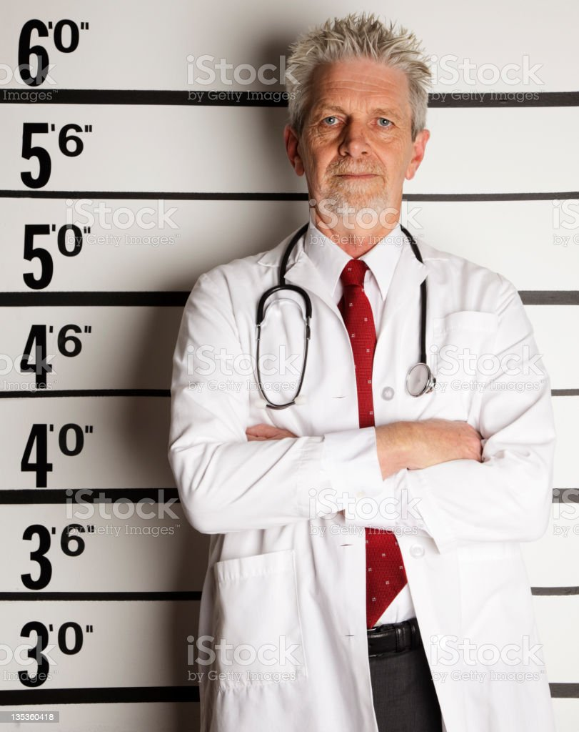 Mugshot of a Doctor stock photo