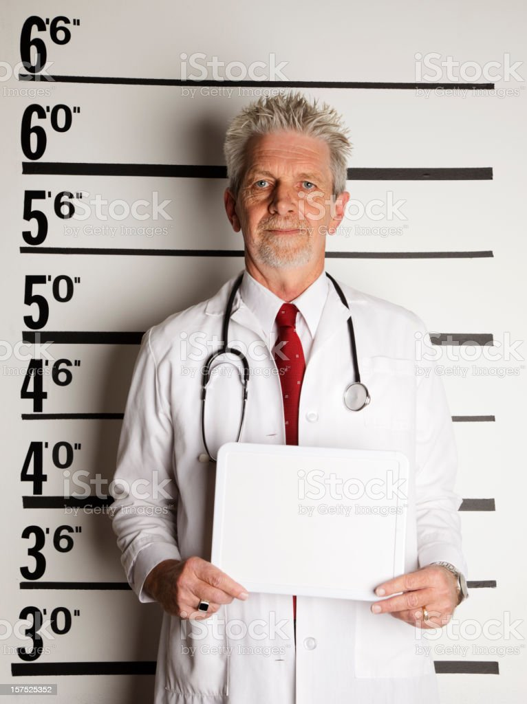 Mugshot of a Doctor royalty-free stock photo