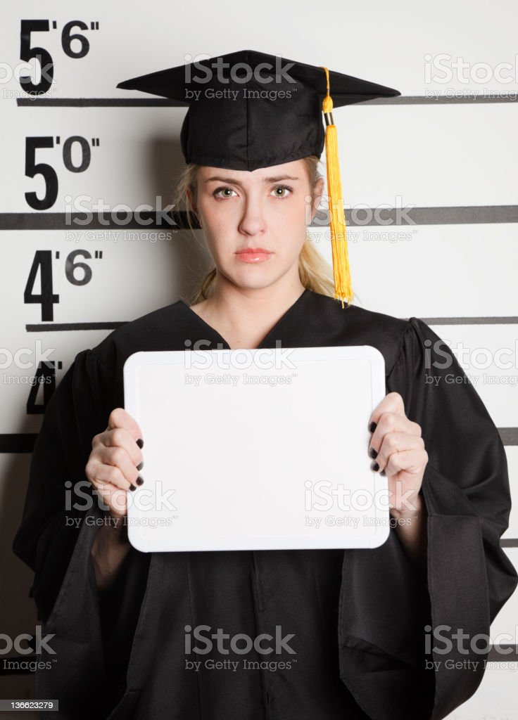 Mugshot of a Graduate royalty-free stock photo