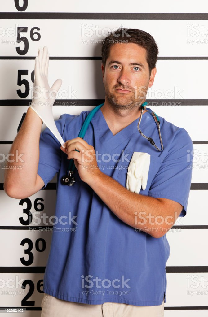 Mugshot of a Healthcare Worker stock photo