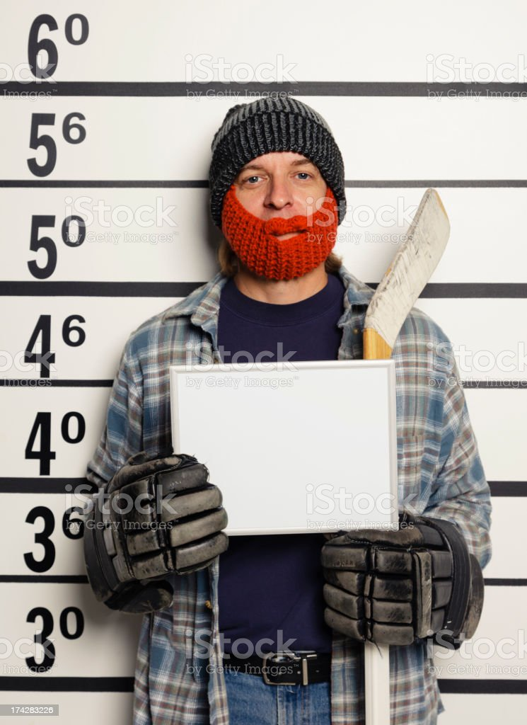 Mugshot of a Man royalty-free stock photo