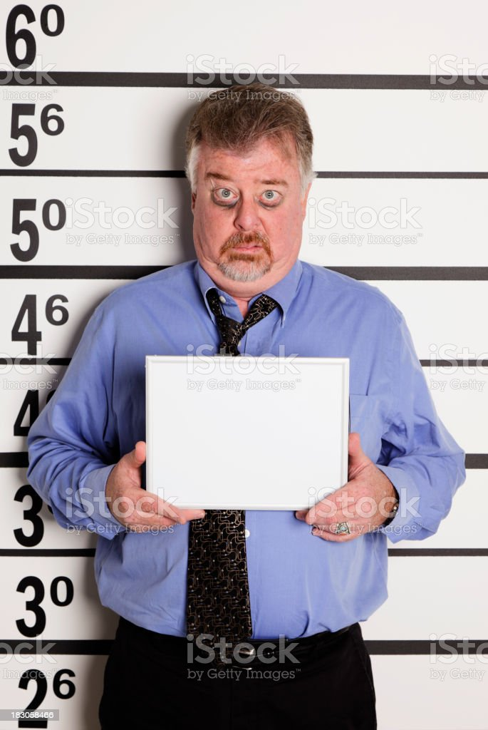 Mugshot of a Middle-Aged Man royalty-free stock photo