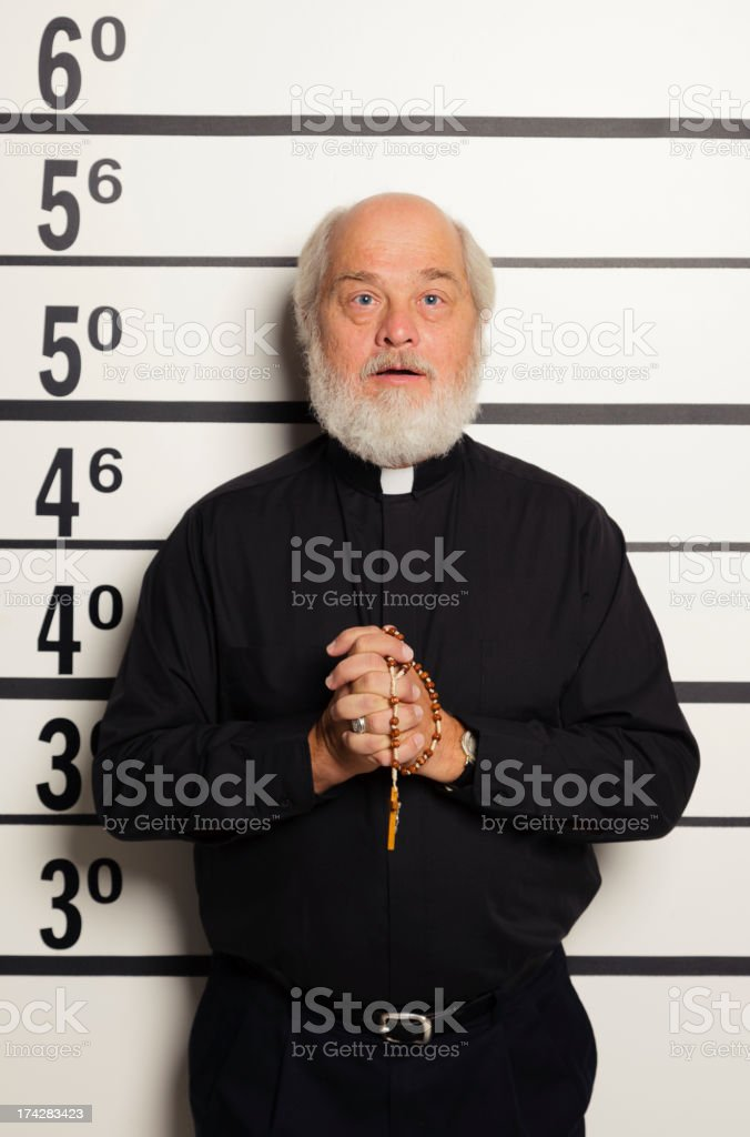 Mugshot of a Priest royalty-free stock photo