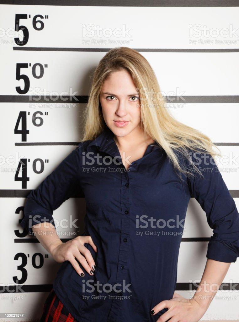 Mugshot of a School Girl royalty-free stock photo