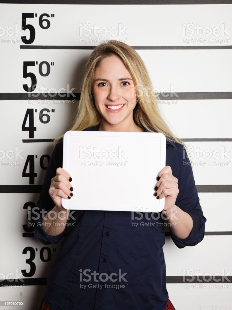 Mugshot of a School Girl royalty-free stock photo