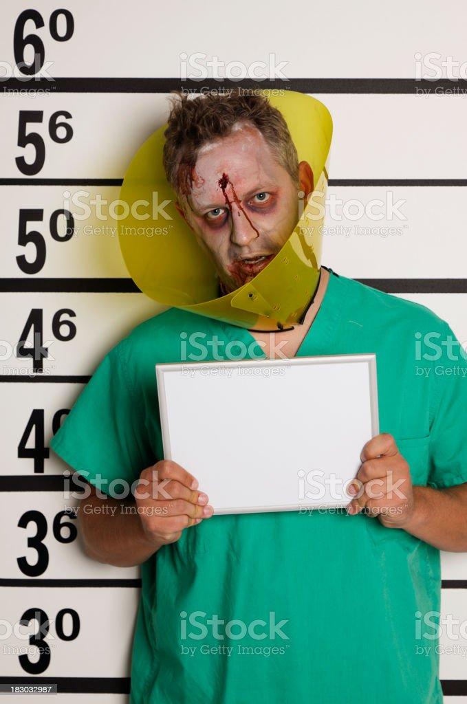 Mugshot of a Zombie royalty-free stock photo