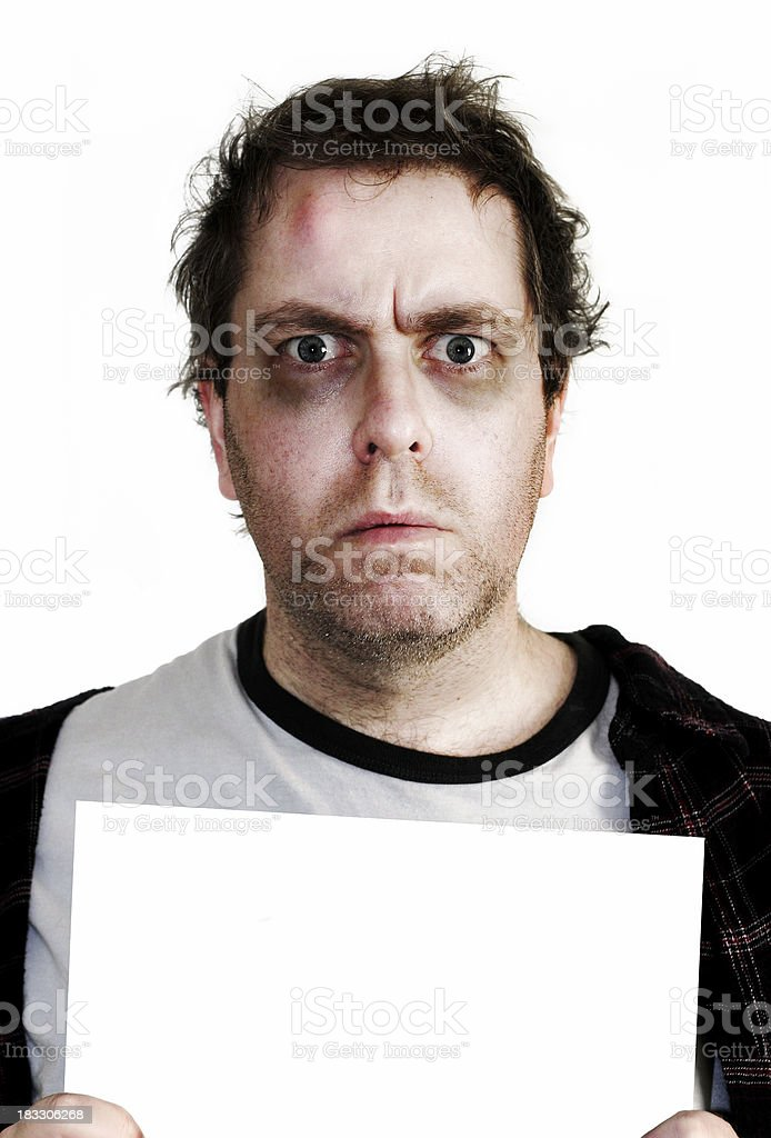 Mugshot - Police Brutality royalty-free stock photo