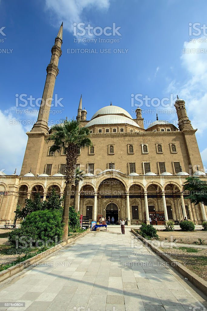 Muhammad Ali's mosque in Cairo Egypt stock photo