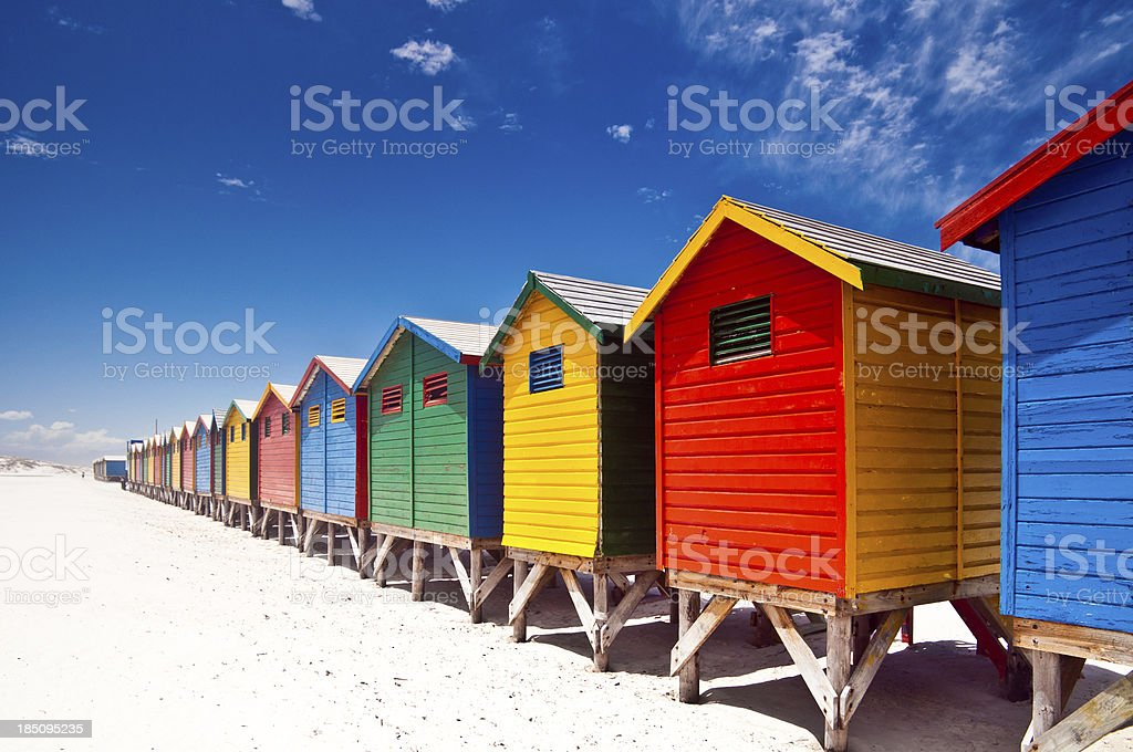 Muizenberg Beach Cape Town stock photo