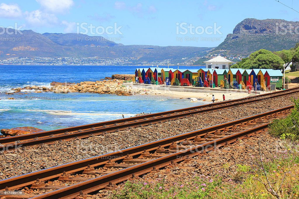 Muizenberg beach, Cape Town, South Africa stock photo