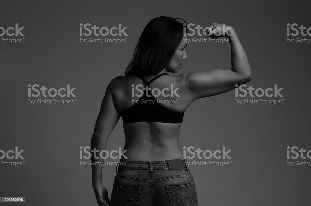 Mujer en forma stock photo