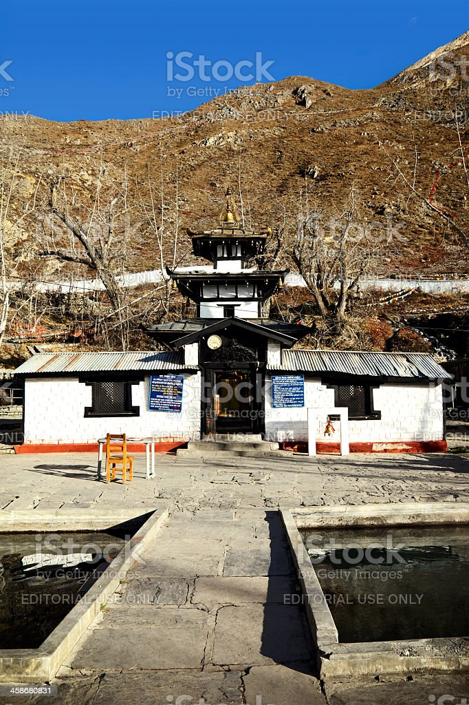 Muktinath temple royalty-free stock photo