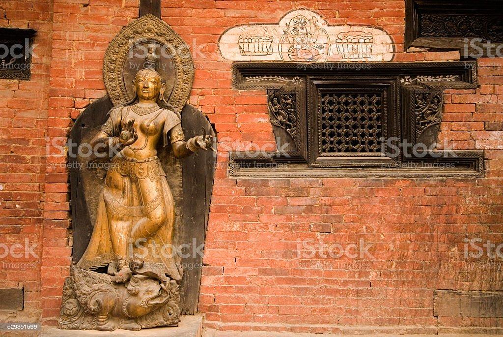 Mul Chowk River Goddess Jamuna . stock photo