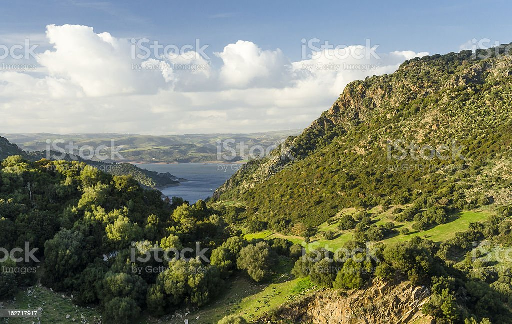 Mulargia lake, in Sardinia royalty-free stock photo