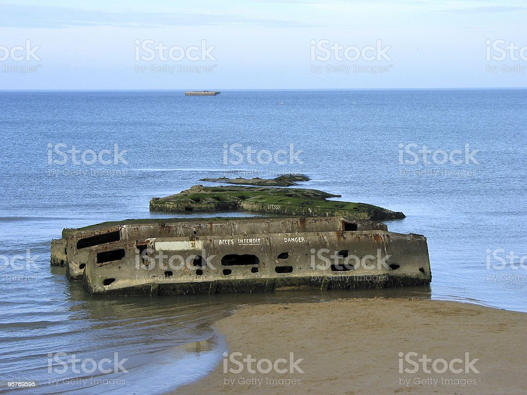 Mulberry Harbour stock photo