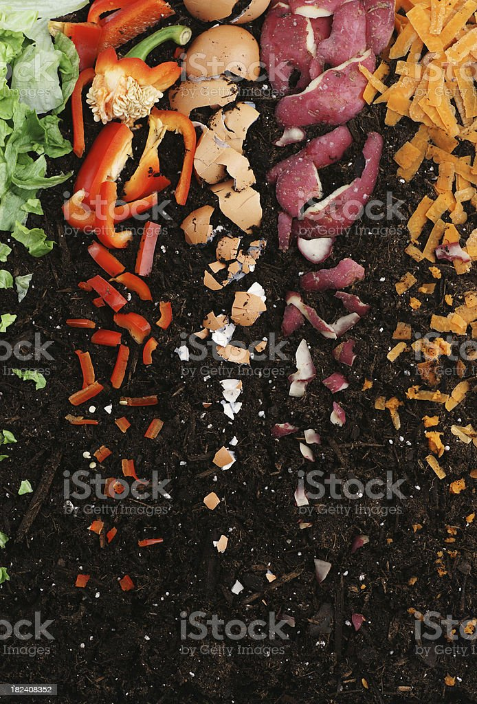 Mulch or Compost stock photo