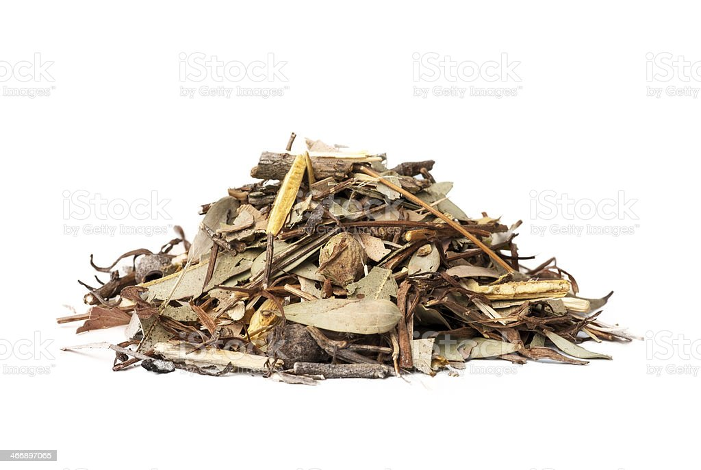 Mulch white background stock photo