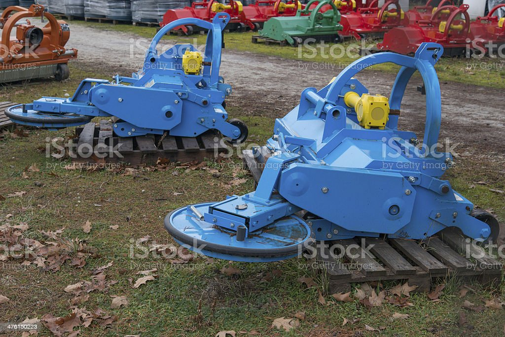 Mulchers stock photo