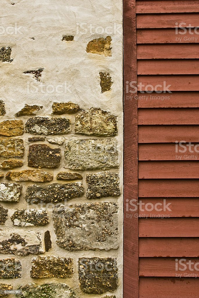 Mule Barn at Batsto Village detail royalty-free stock photo
