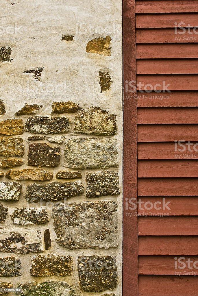 Mule Barn at Batsto Village detail stock photo