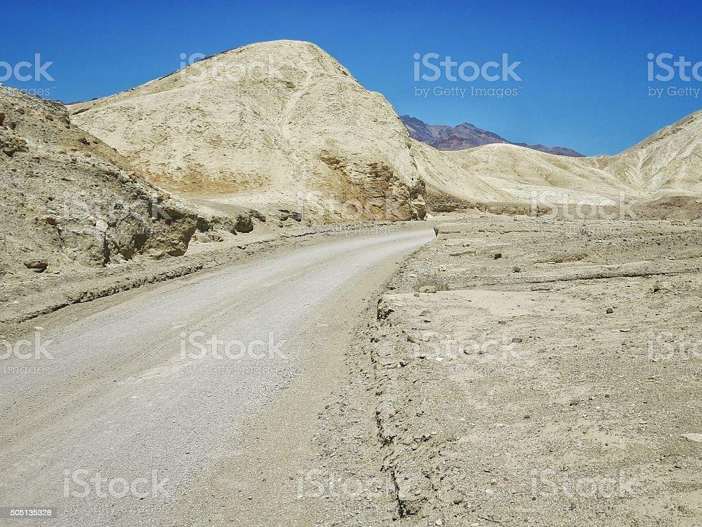 20 Mule Team Canyon Drive, Desert Mine, Death Valley, California stock photo
