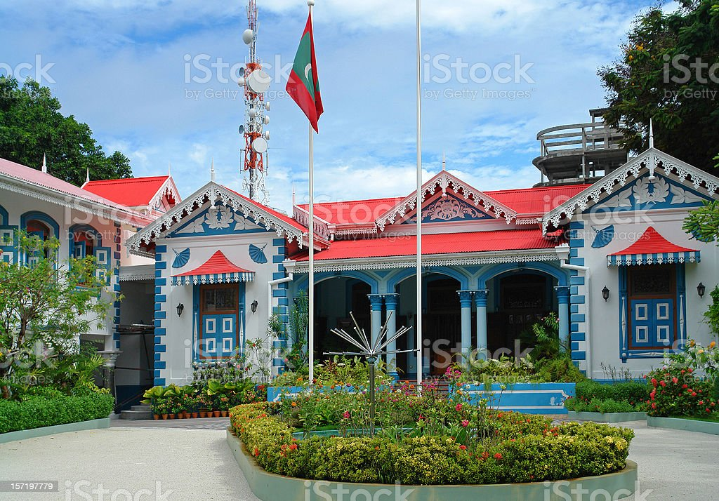 Muleeaage Palace in Maldives royalty-free stock photo
