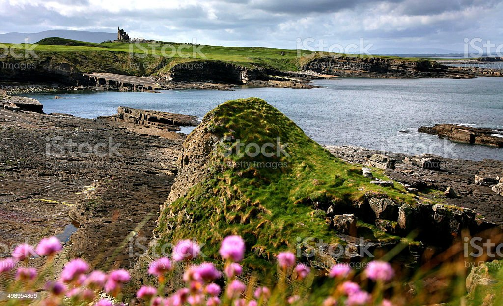 Mullaghmore castle in spring stock photo