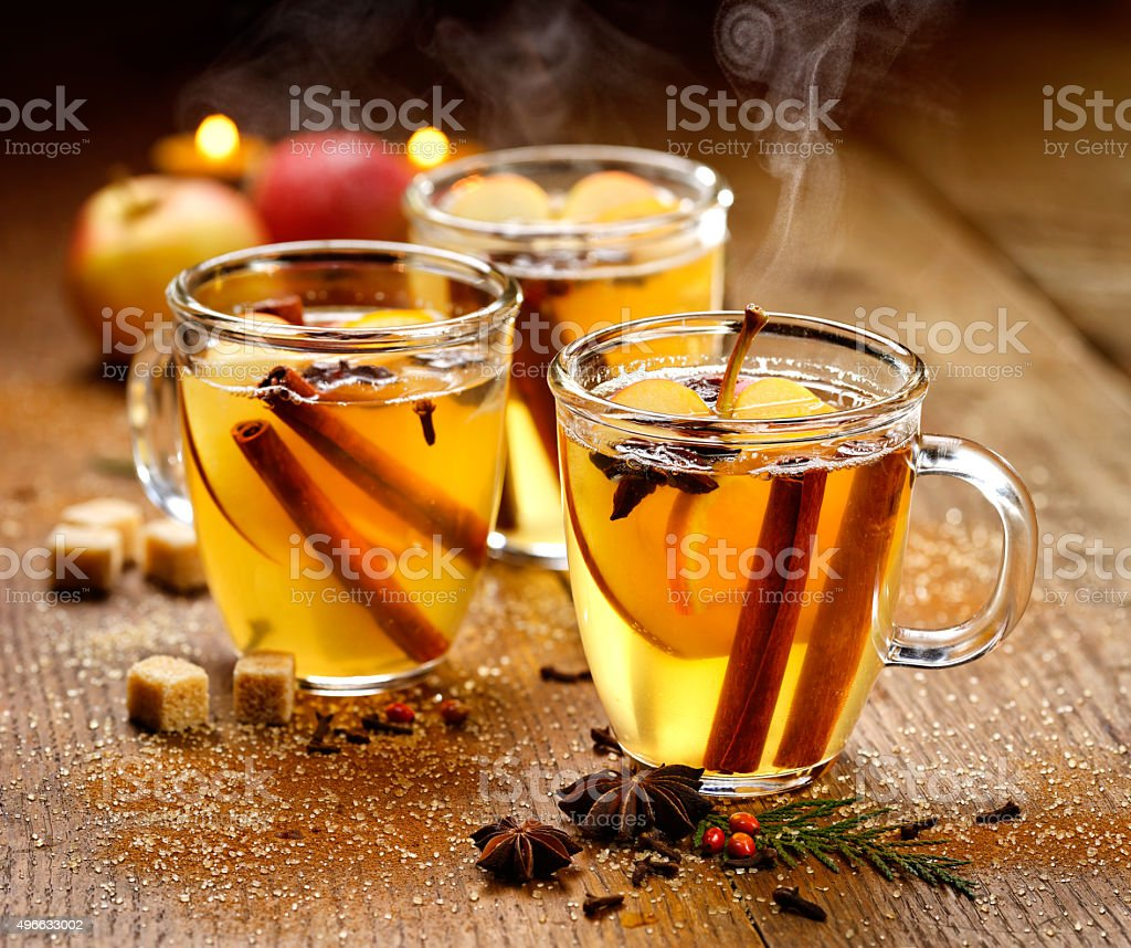 Mulled cider stock photo