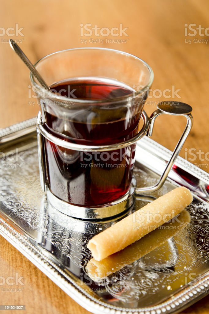 Mulled hot wine royalty-free stock photo