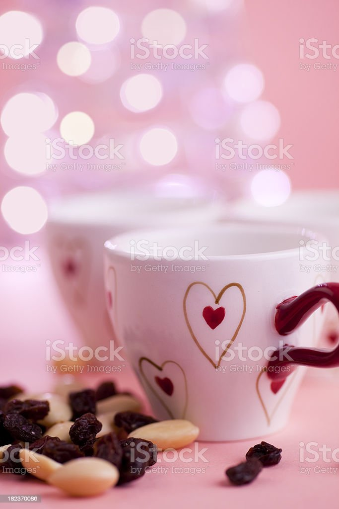 Mulled wine cups royalty-free stock photo