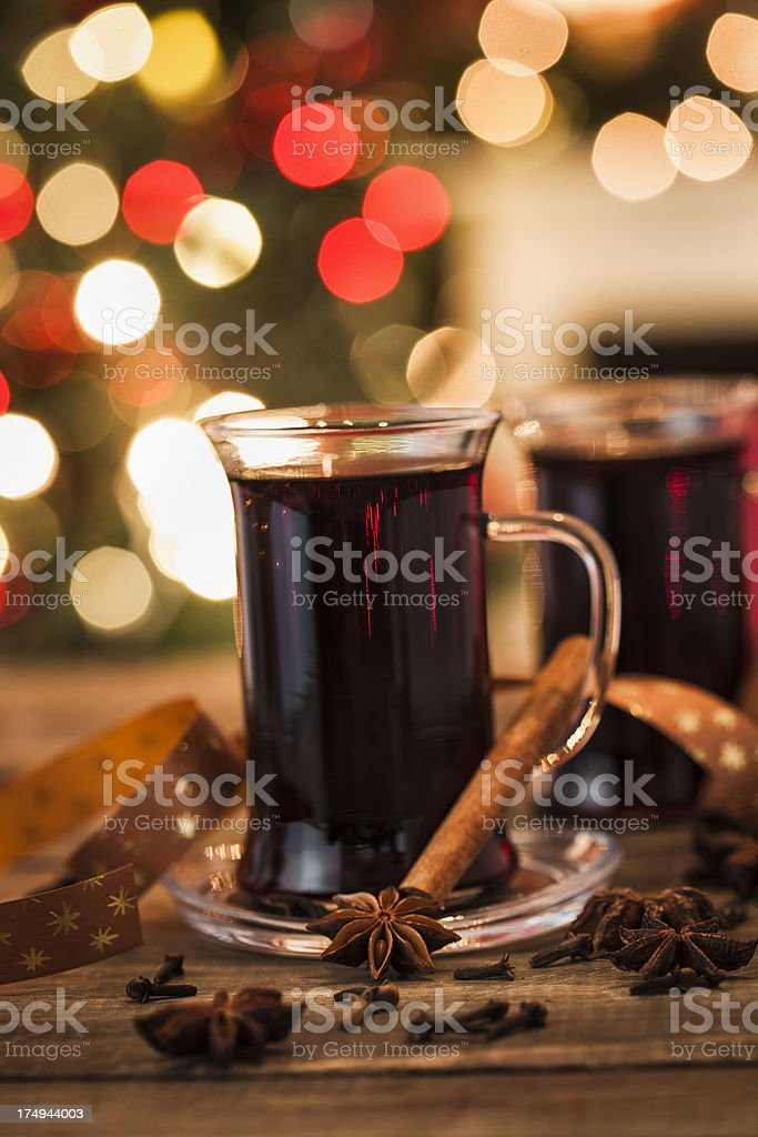 Mulled Wine for Christmas royalty-free stock photo