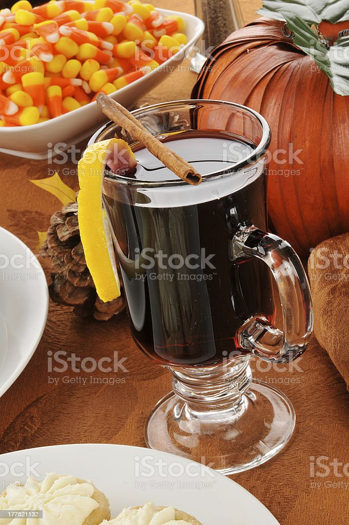 Mulled wine for the holidays stock photo