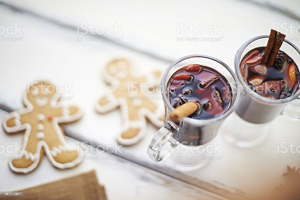 Mulled wine for two royalty-free stock photo
