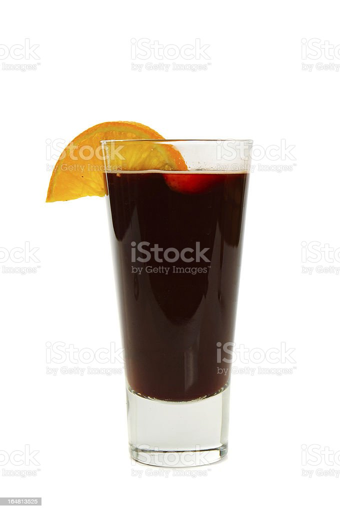 Mulled wine  isolated on white royalty-free stock photo