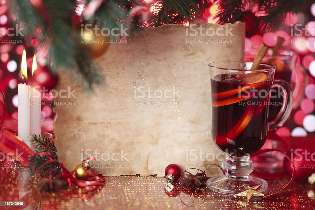 Mulled wine. royalty-free stock photo