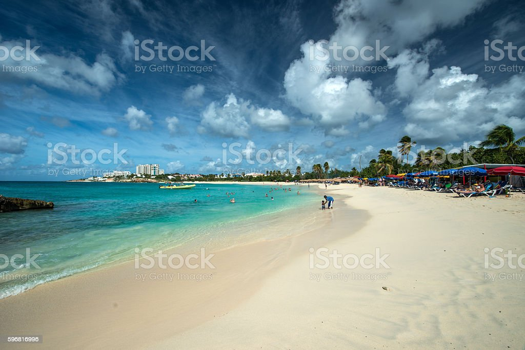 Mullet bay, St. Maarten stock photo