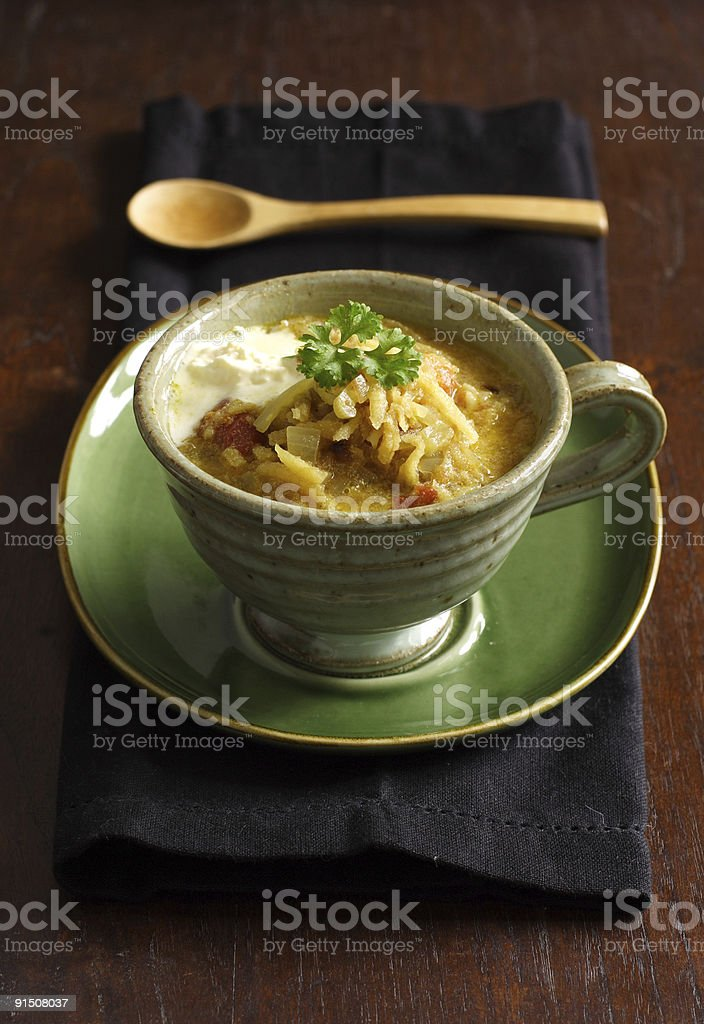 Mulligatawny soup royalty-free stock photo