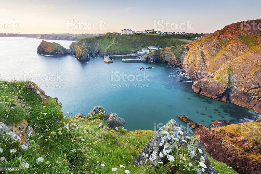 Anse de Mullion Cornwall photo libre de droits