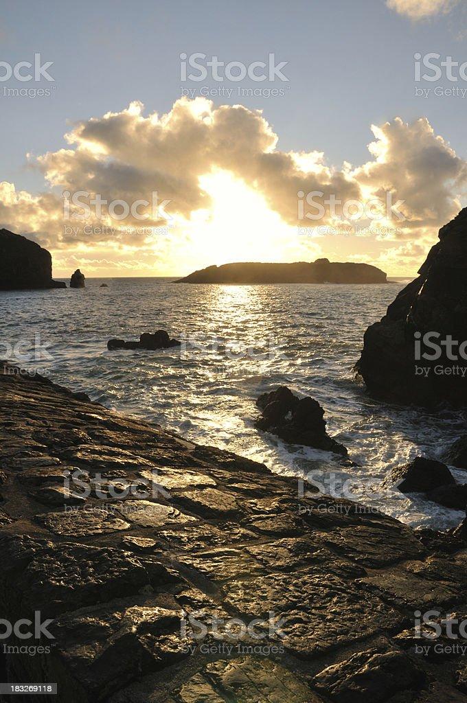 Mullion Island sunset. royalty-free stock photo