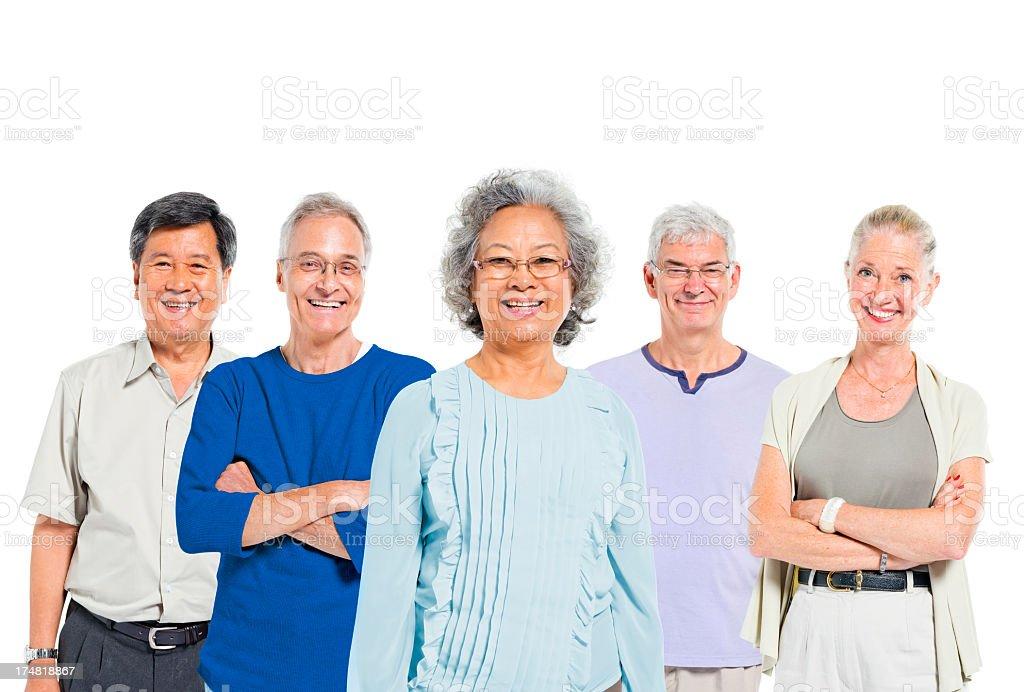 Mullti-ethnic senior group of people royalty-free stock photo