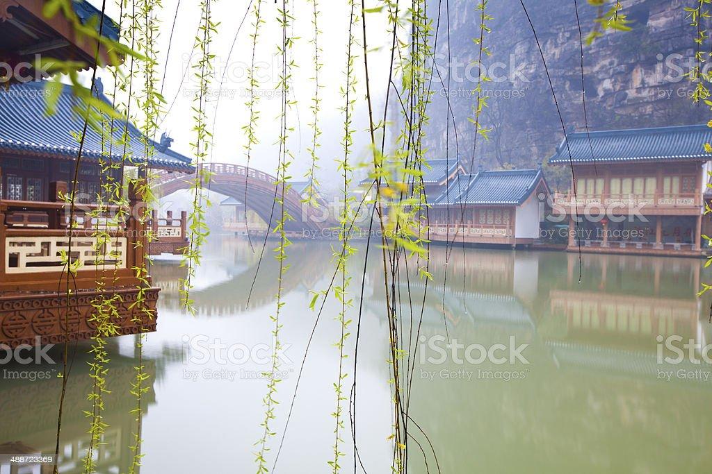 Mulong Lake Park royalty-free stock photo