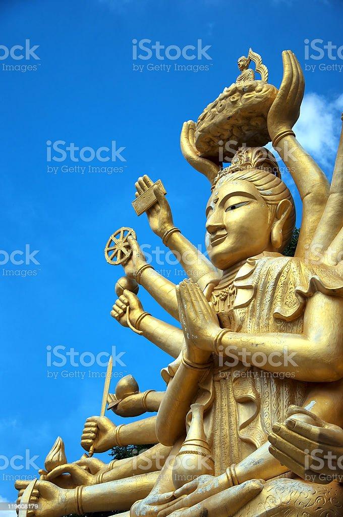 Multi armed buddha royalty-free stock photo