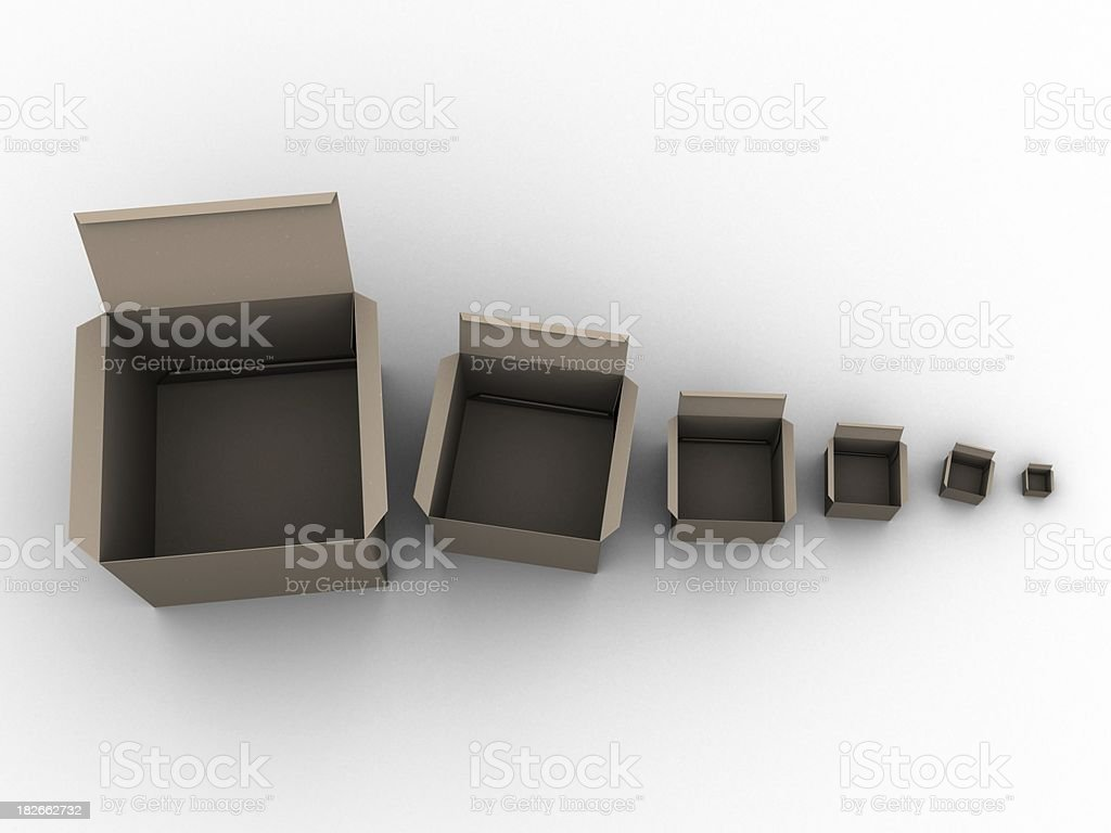 Multi cardboard boxs stock photo